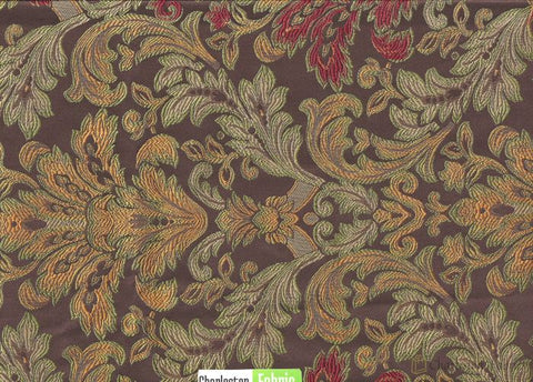 Floral Damask Polyester Fabric