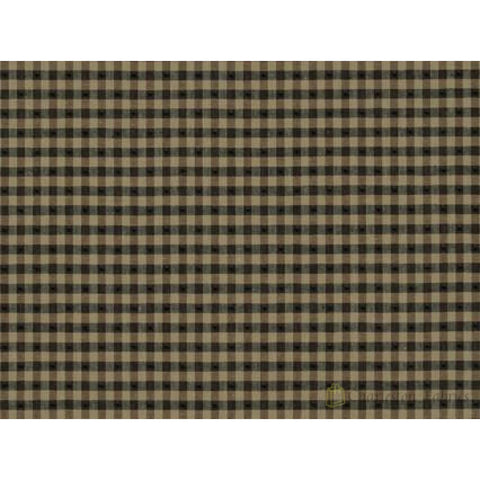Linley Gingham 693 Black Tan Covington Fabric Wovens