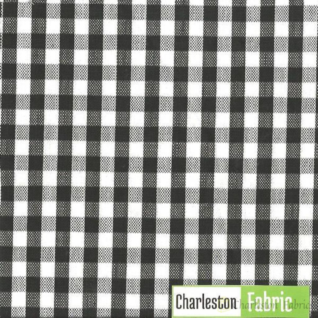 Marco Shade Black White Plaid Fabric Charleston Fabrics