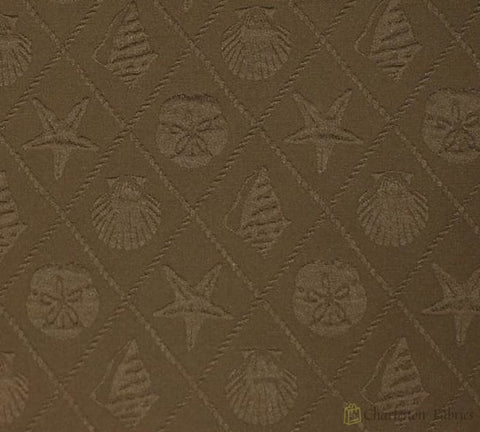 Od Shell Trellis Brown P Kaufmann Fabric Fabric