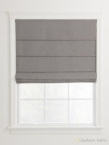 Ribbed Pleat Custom Roman Shades For Your Home / Office Roman Shade