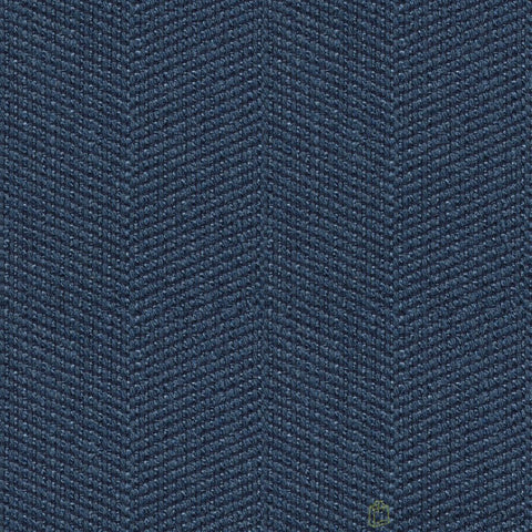 Solo Blue Indigo Herringbone Fabric