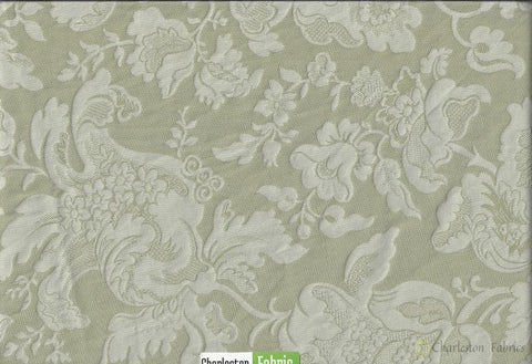 Tone And Damask Polyester Fabric