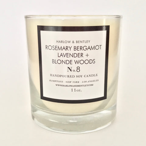 No. 8 Rosemary Bergamot, Lavender + Blonde Woods