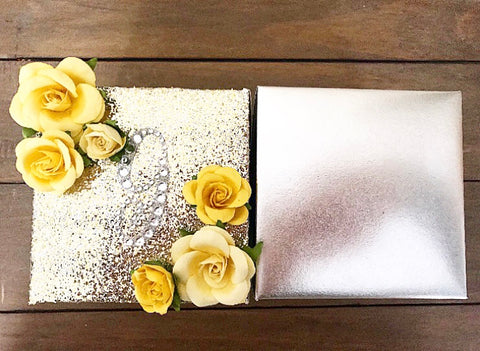 2 SHIMMER + METALLIC CANDLE BOX COVERS - PACKAGE