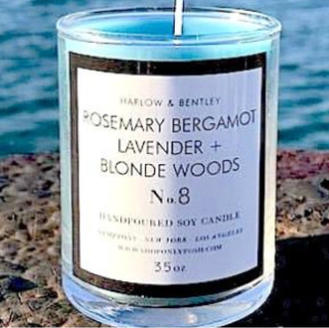 Rosemary Bergamot, Lavander + Blonde Woods 3.5 oz Votive