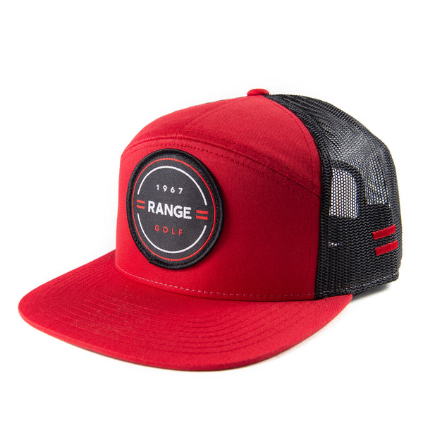MARKSMAN | RED FLAT BILL GOLF HAT