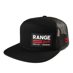 =RANGE= 3D PATCH | BLACK FLAT BILL GOLF HAT