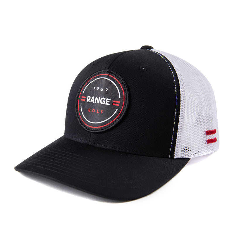 THE JAMES | BLACK/WHITE GOLF HAT