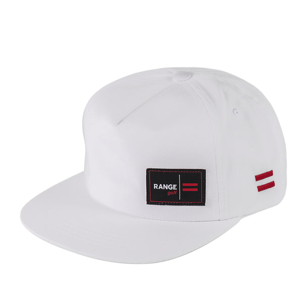 VEGAS | WHITE FLAT BILL GOLF HAT