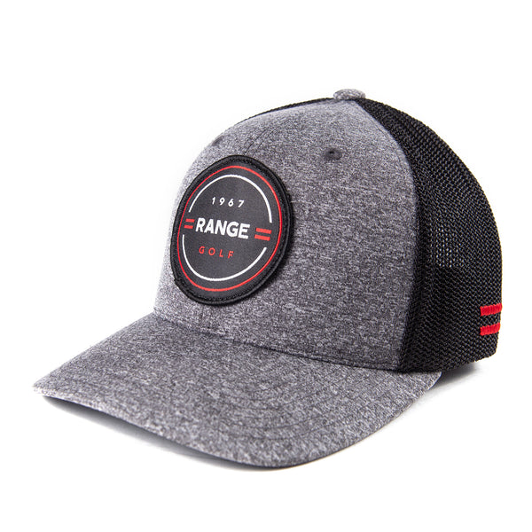 THE JAMES | GREY/ BLACK GOLF HAT