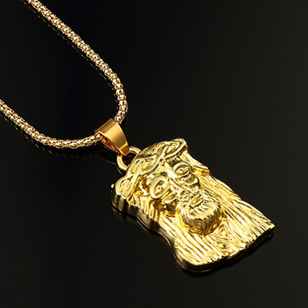 Hip-hop Glod Plated Jesus Pendant and Chain