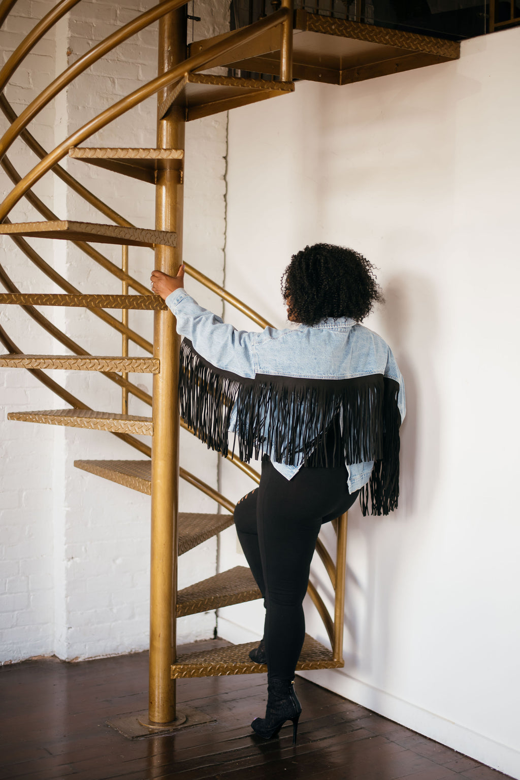 Boyfriend Fringe Denim Jacket