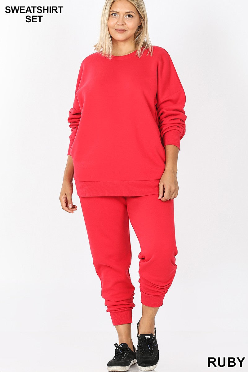 Perfectly Cozy Sweatsuit Set - Plus Size