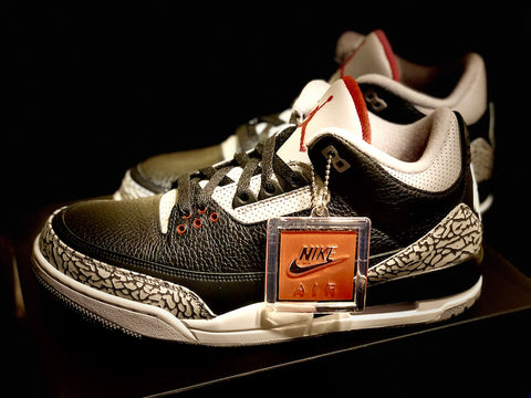 "2018 AIR JORDAN RETRO 3 OG GS ""BLACK CEMENT"""