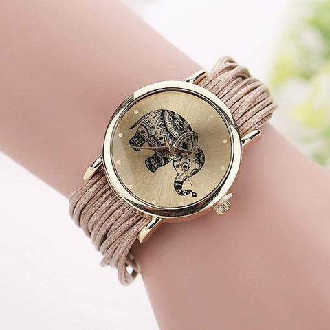 Fashionable Elephant Bracelet Watch-Aspired Elegance