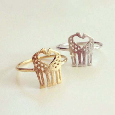 Love Giraffe Ring-Aspired Elegance