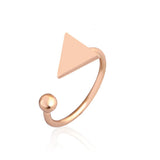 Minimalist Triangle Ring-Aspired Elegance