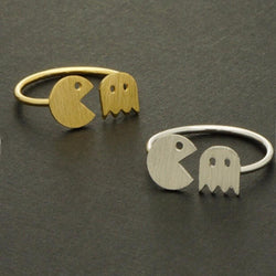 Pac Man Ring-Aspired Elegance