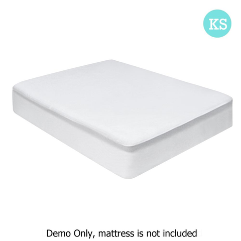 King single foam mattress and protector
