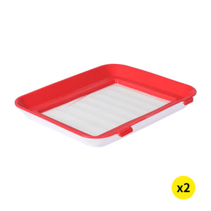 Food Containers Preservation Tray Storage Set Organizer Reusable Kitchen x2