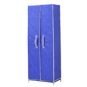 10 Tiers Shoe Rack Portable Storage Cabinet Organiser Wardrobe Blue Cover