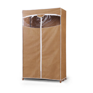 Portable Wardrobe Clothes Closet Storage Cabinet Organiser With Rail