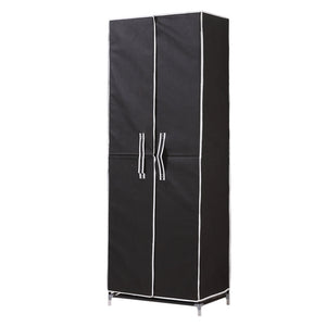 10Tiers Shoe Rack Portable Storage Cabinet Organiser Wardrobe Black Cover