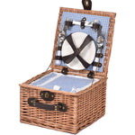 2 Person Picnic Basket Wicker Baskets Set Insulated Outdoor Blanket Gift Storage