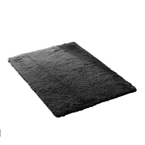 Designer Soft Shag Shaggy Floor Confetti Rug Carpet Home Decor 80x120cm Black