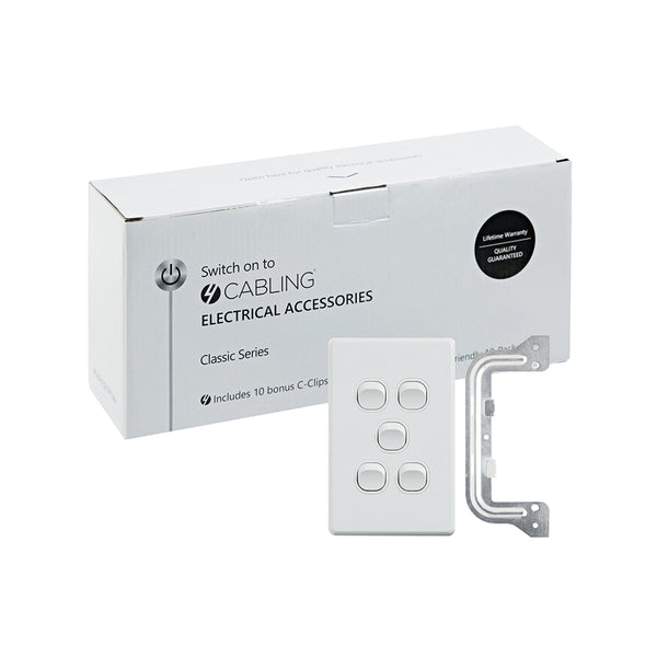 Classic 5 Gang Switch-10 Pack with 10 FREE C-Clips