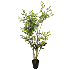 Faux Flowering Pink Magnolia Tree with Pot 250cm