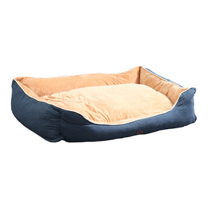 idropship Deluxe Soft Pet Bed Mattress with Removable Cover Size Medium in Blue Colour