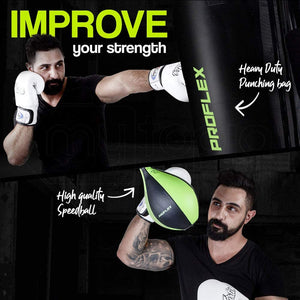 Multi-Station Home Gym Equipment with Boxing Bag and Speedball