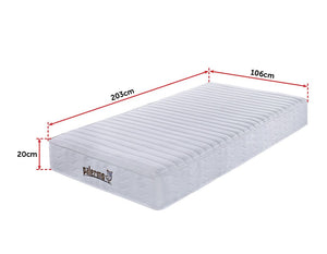 Palermo Contour 20cm Encased Coil King Single Mattress CertiPUR-US Certified Foam
