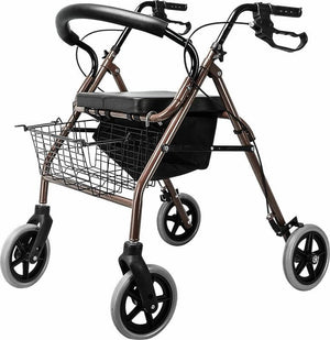 Rollator Walker Walking Frame With Wheels Black