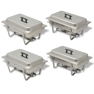 4 Piece Chafing Dish Set Stainless Steel
