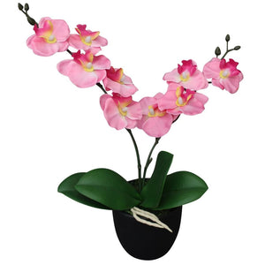 Artificial Orchid Plant with Pot 30 cm Pink