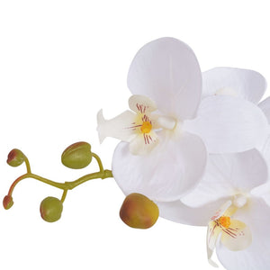 Artificial Orchid Plant with Pot 65 cm White