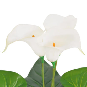 Artificial Calla Lily Plant with Pot 85 cm White