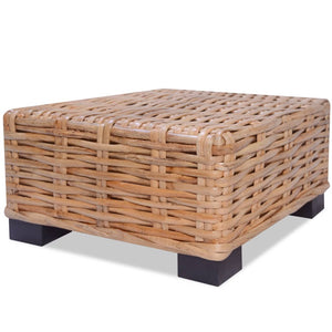 Coffee Table Natural Rattan 45x45x30 cm