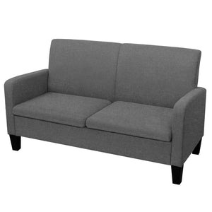 2-Seater Sofa 135x65x76 cm Dark Grey
