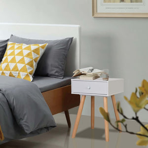 Bedside Tables 2 pcs Solid Pinewood 40x30x61 cm White