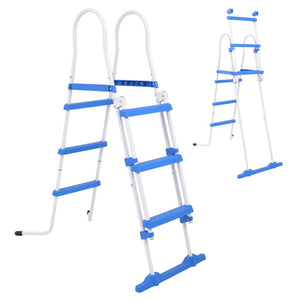 Above-Ground Pool Safety Ladder with 3 Steps 107 cm