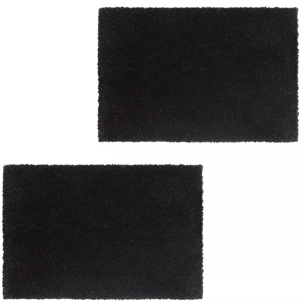 Doormats 2 pcs Coir 17 mm 40x60 cm Black
