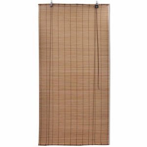 Roller Blind Bamboo 140x220 cm Brown