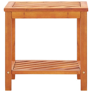 Side Table Solid Acacia Wood 45x33x45 cm