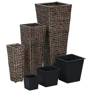 Garden Planters 3 pcs Water Hyacinth Dark Brown
