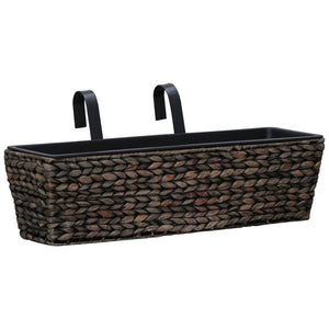 Garden Planters 2 pcs Water Hyacinth Brown