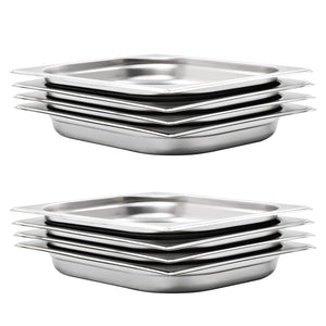 Gastronorm Containers 8 pcs GN 1/2 40 mm Stainless Steel